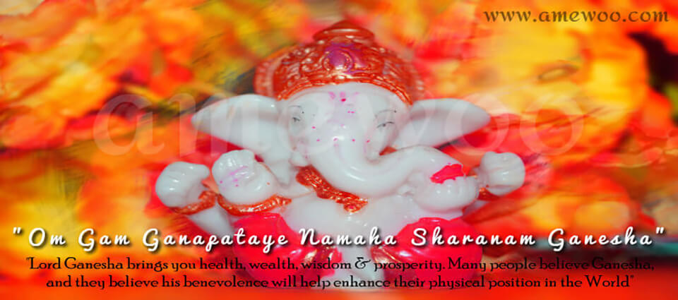Happy Ganesh Chaturthi e Greetings, animated template,messages and wishes