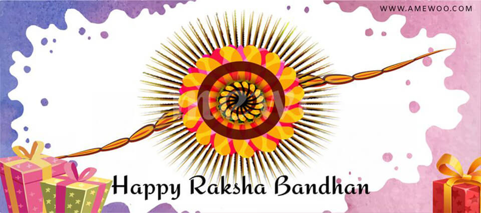 Happy Raksha Bandhan e Greetings, animated template,messages and wishes