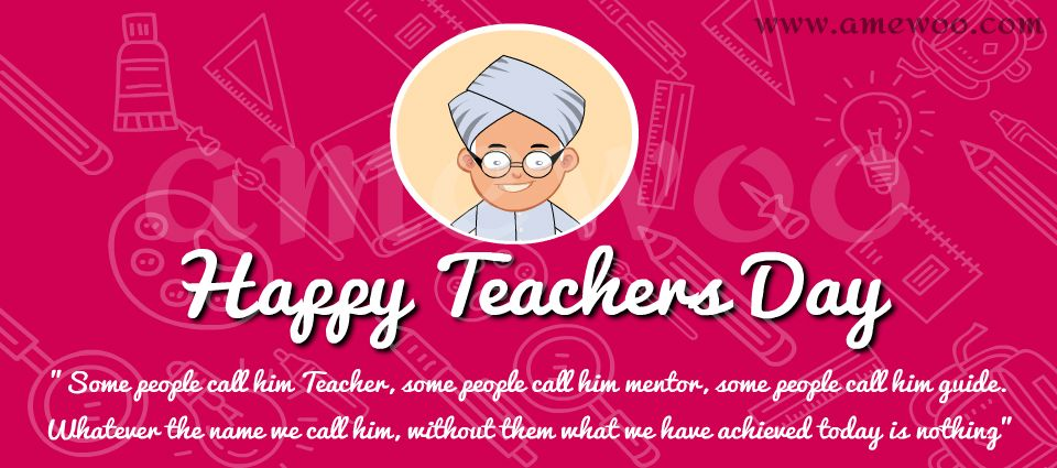 Happy Teachers day e Greetings, animated template,messages and wishes