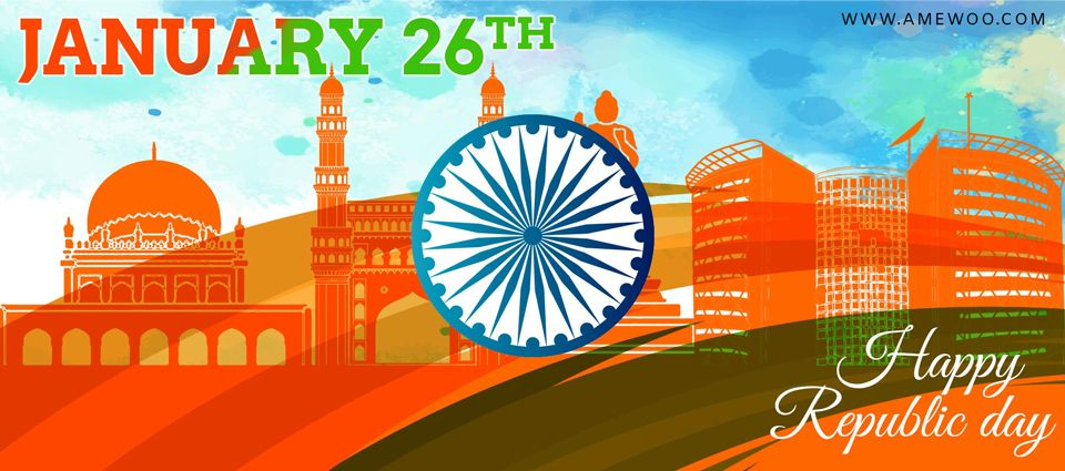 Happy Republic Day e Greetings, animated template,messages and wishes
